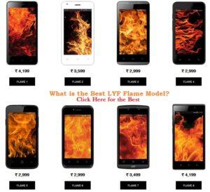 Best LYF Flame Model