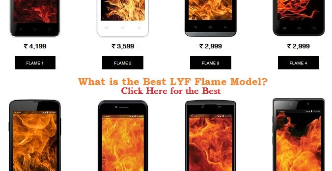 Best LYF Flame Model